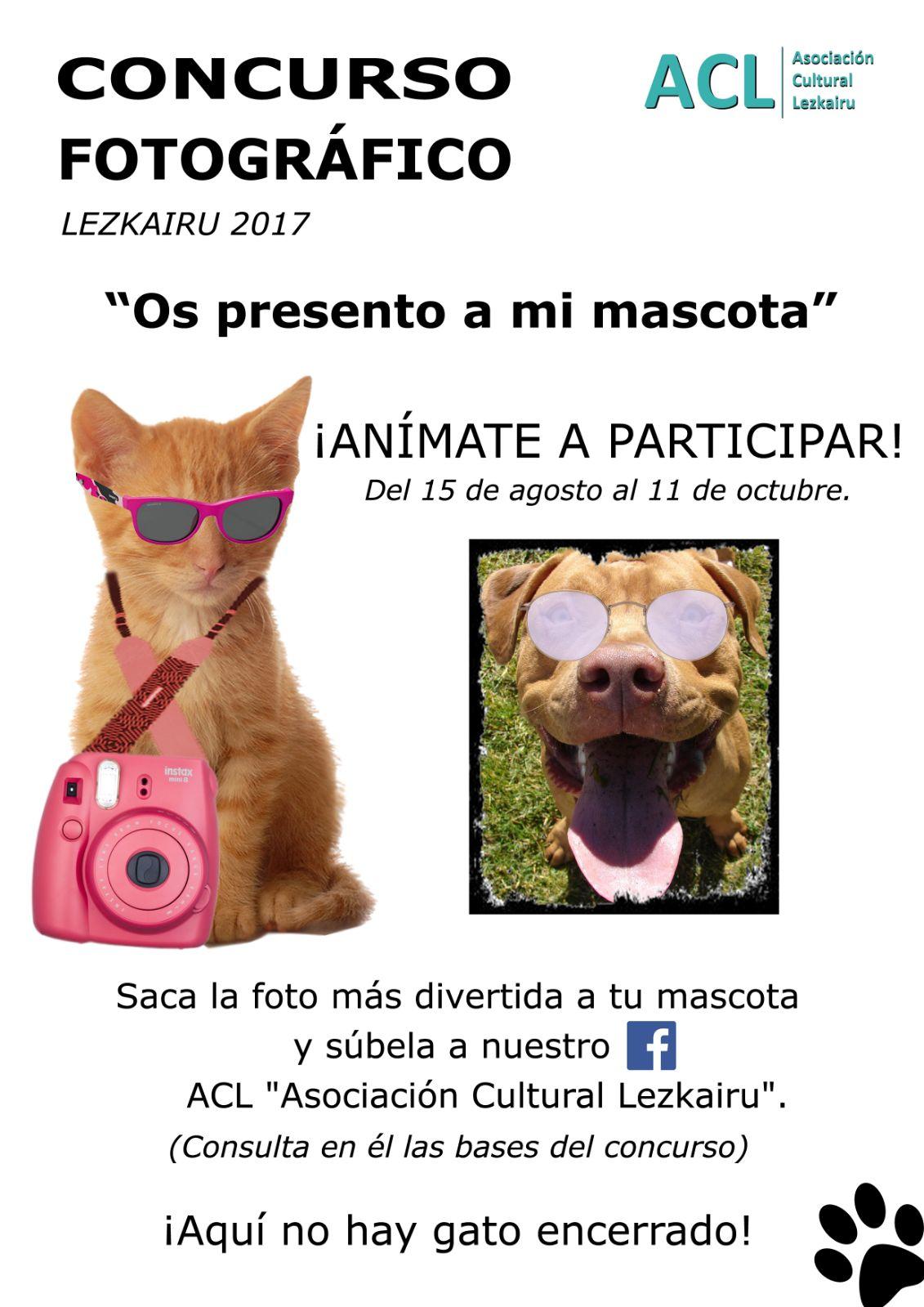 Concurso fotográfico 'Os presento a mi mascota'