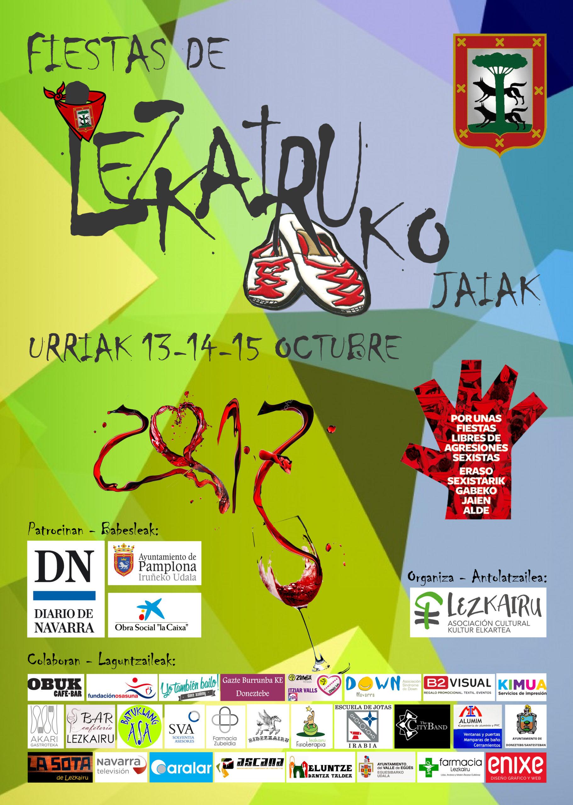 Fiestas Lezkairu 2017: 13, 14 y 15 de octubre