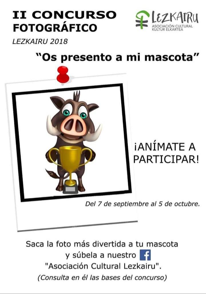 Abierto el plazo para participar en el   concurso 'Os presento a mi mascota'