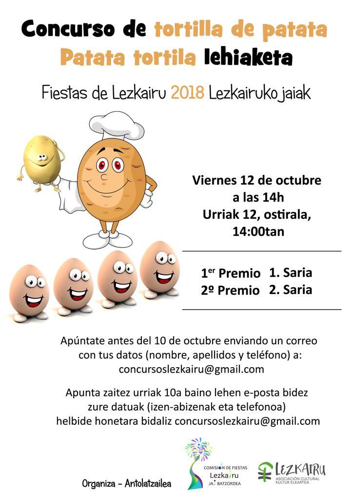 Fiestas Lezkairu 2018: concurso tortilla de patata