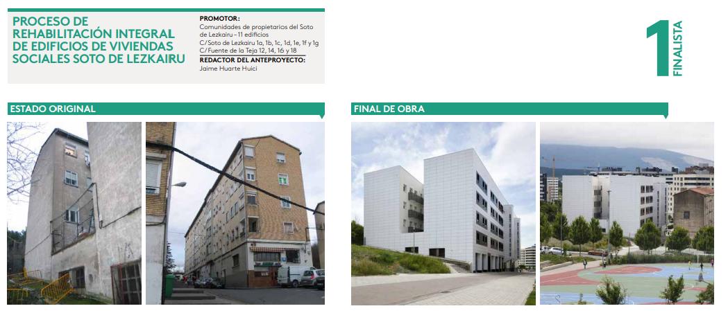 La rehabilitación del 'barrio antiguo' finalista de BIZIBERRI Navarra Rehabilita