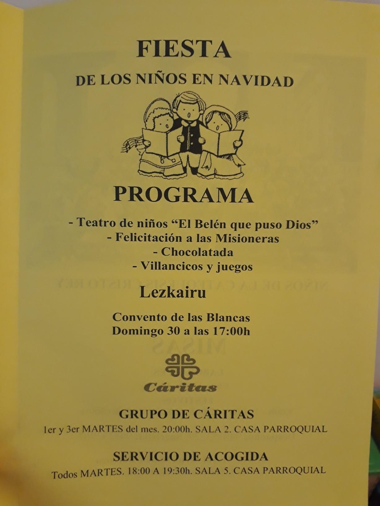 Fiesta de los Niños en Navidad en el Convento de Las Blancas