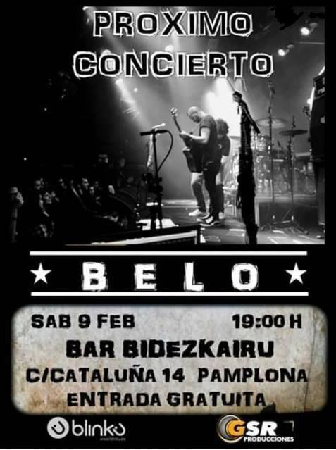 Concierto mañana sábado de BELO en Bidezkairu
