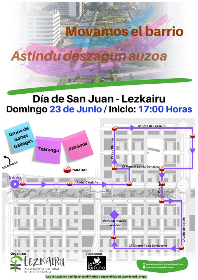 Mañana por la tarde pasacalles en Lezkairu