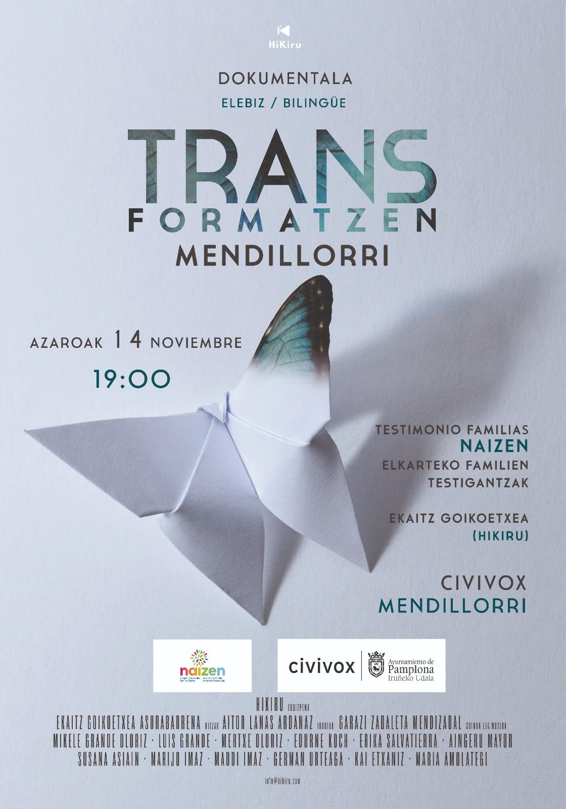 Presentación documental Trans-Formatzen, de NAIZEN, en Civivox Mendillorri