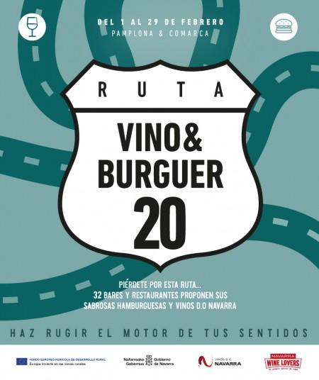 Ruta Vino&Burguer 2020 en Lezkairu durante el mes de febrero
