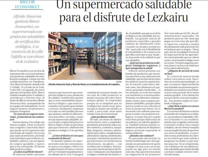 Entrevista a Super Biecor en la prensa