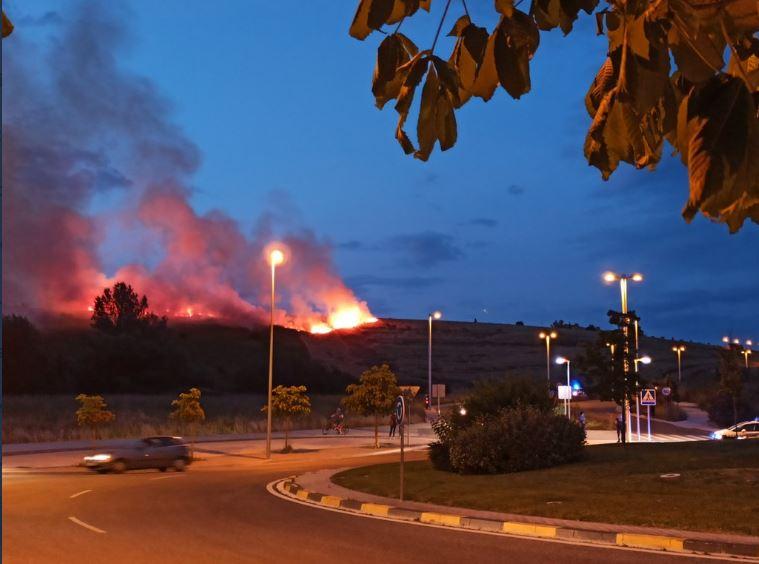 Incendio ladera Mendillorri