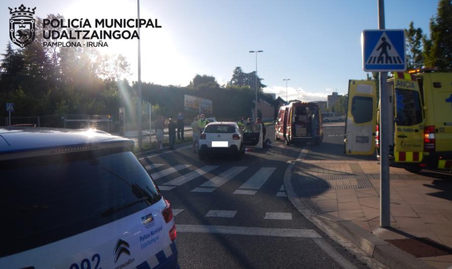 Dos heridos graves atropellados en la avenida Juan Pablo II de Pamplona
