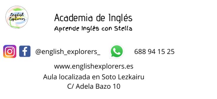 Información sobre el próximo curso de la academia de inglés English explorers
