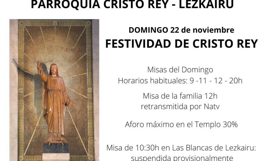 Información parroquia Cristo Rey