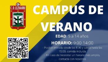Campus de verano organizado por C.D. Lezkairu fútbol