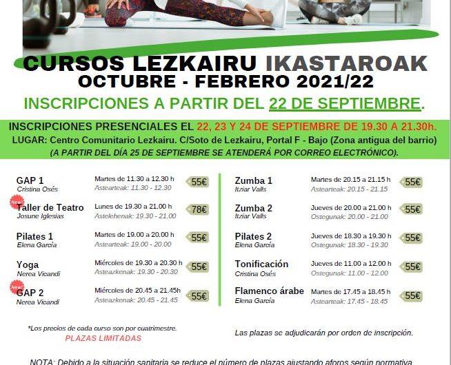 Actividades organizadas por la Asociación Cultural Lezkairu para octubre 2021 – febrero 2022